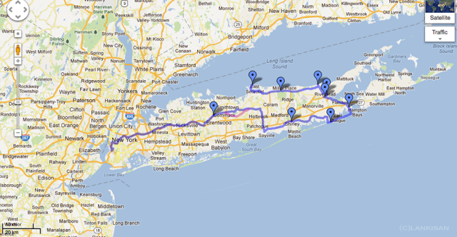Our travels at the Long Island.