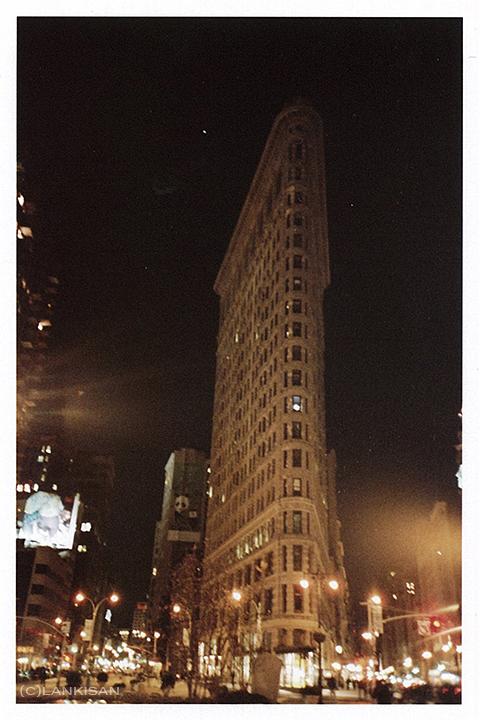 Flatiron Building. My favourite! lomo+fisheye lense