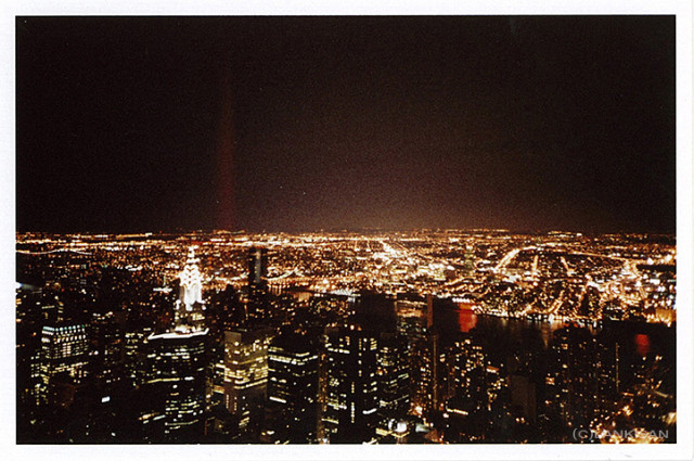 View from the Empire State Building. lomo.