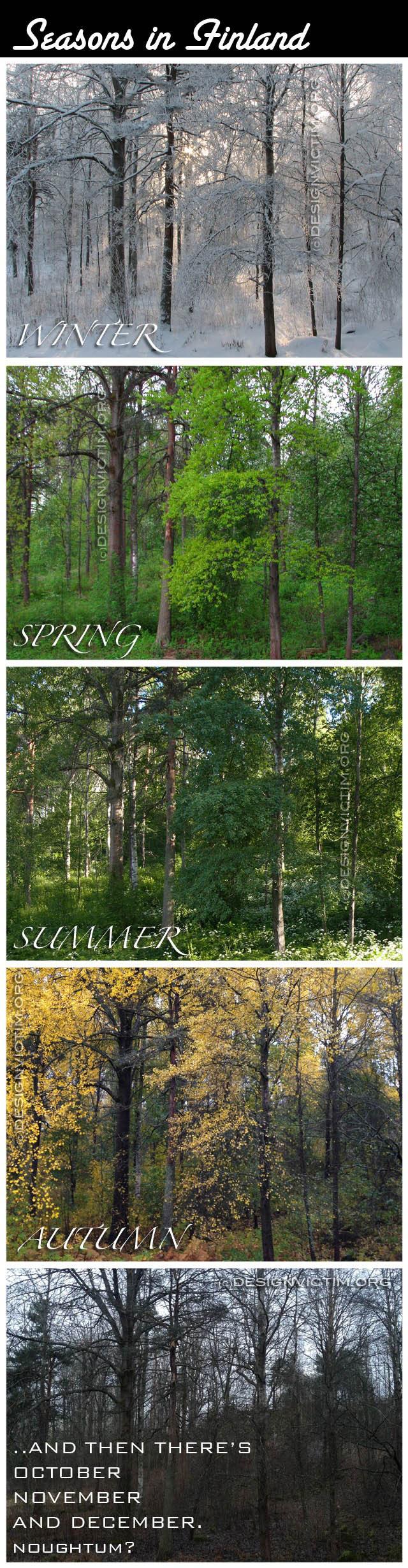 Seasons in Finland.