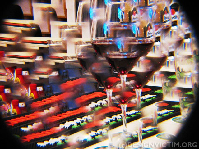 Having fun with red wine and toy lenses for camera =)