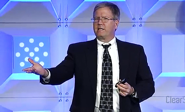 "CIA's Chief Tech Officer Ira ""Gus"" Hunt (screenshot of the presentation)"