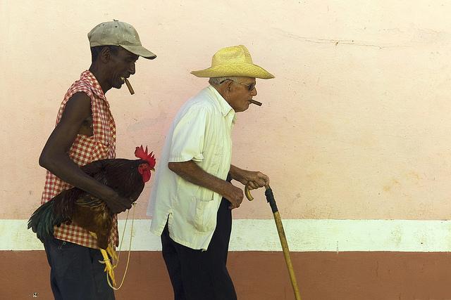 """Two Men & A Hen"". Cuba. Photo by Andre Bogaert"