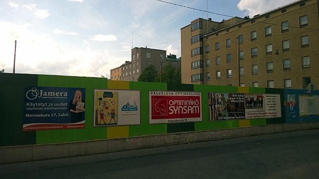 Tällaiselta seinä näyttää nyt.